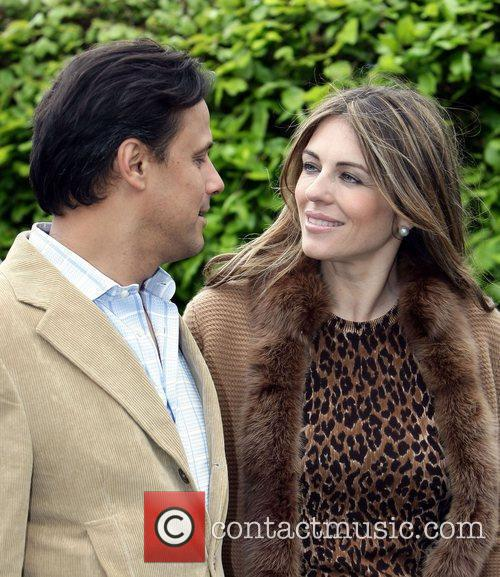 Arun Nayar with his wife Elizabeth Hurley who...