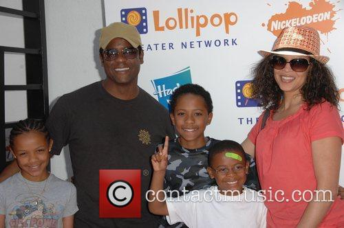 Blair Underwood and family Lollipop Theater Network Inaugural...