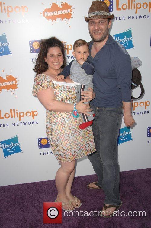 Marissa Jaret Winokur with husband Judah Miller and...