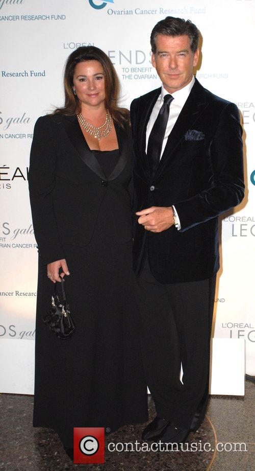 Keely Shaye Smith and Pierce Brosnan L'Oreal Legends...