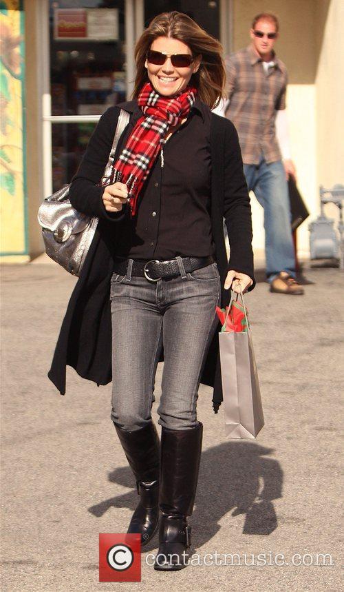 Lori Loughlin  leaving Briggs Wine and Spirits...