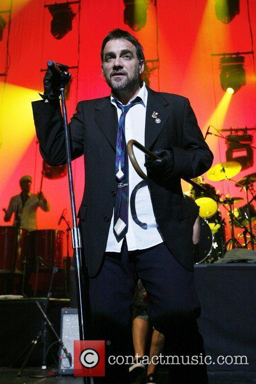 Latin-rock band Los Fabulosos Cadillacs performing live in...