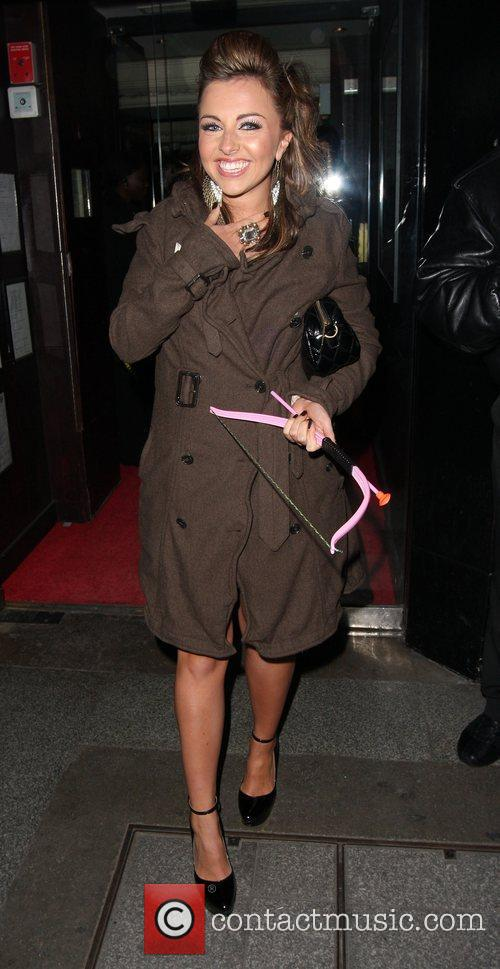 Louisa Lytton is all smiles when she arrives...