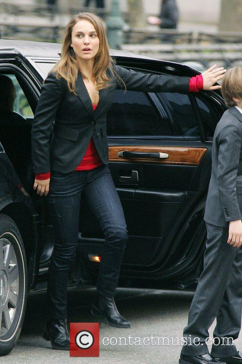 Natalie Portman on the set of 'Love and...