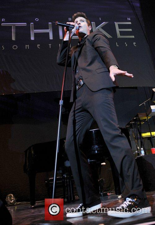 Robin Thicke performs as part of the 'Love...