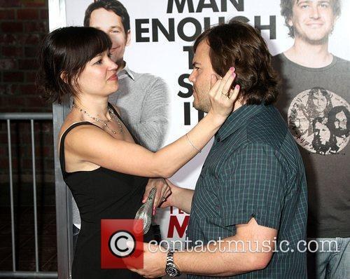 Jack Black and Tanya Haden attends the Los...
