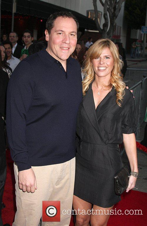 Jon Favreau and wife Joya Tillem attends the...
