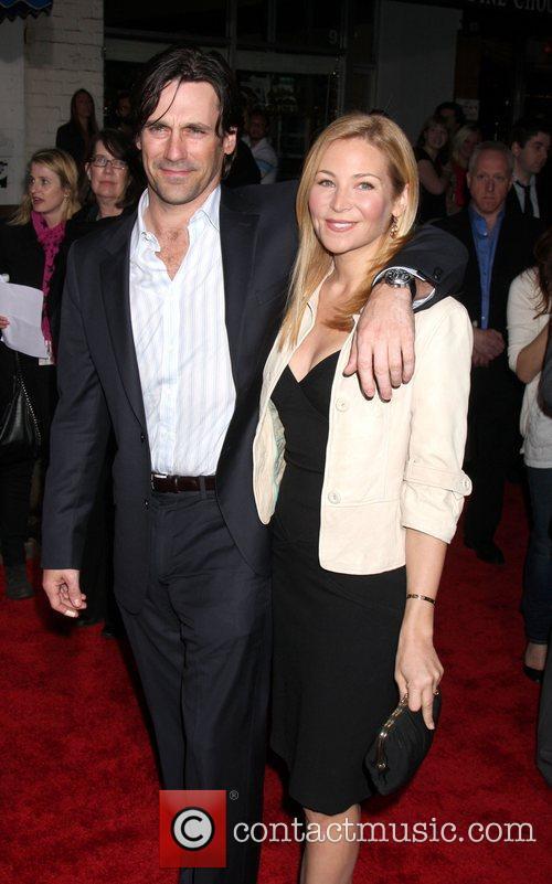 Jon Hamm and Jennifer Westfeldt  attends the...