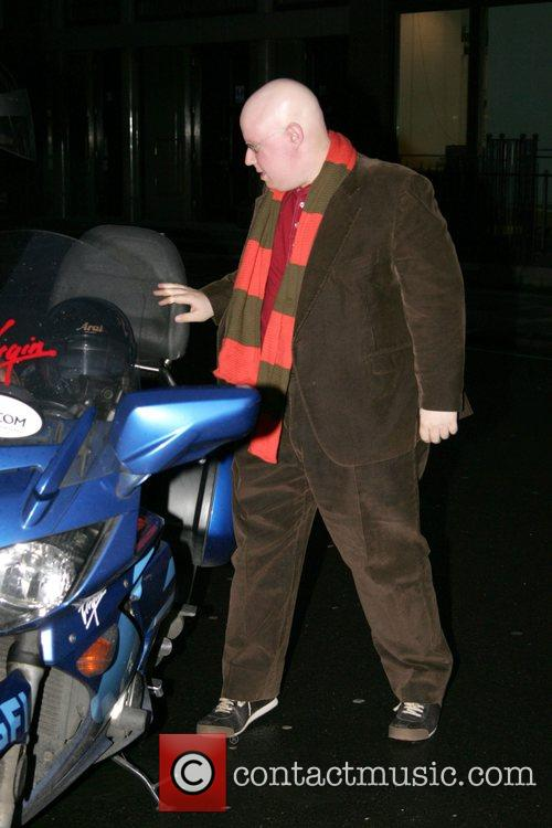 Matt Lucas arriving at the Radio 1 studios...