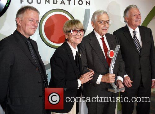 Fritz Kuhn, Ken Adam, wife Letizia Adam, Michael...