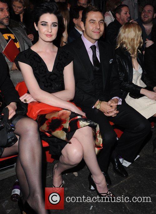 Erin O'Connor and David Walliams London Fashion Week...