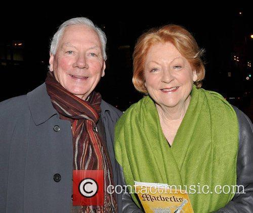 Gay Byrne, Kathleen Watkins World premiere of 'Macbecks'...