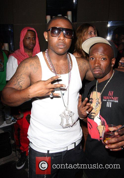 Rapper Mack Maine parties at a club