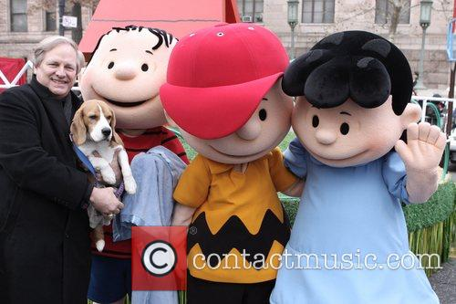 David Frei and the Peanuts characters at the...