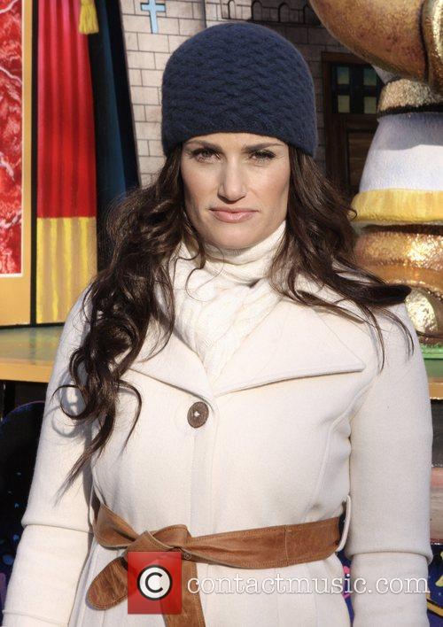 Idina Menzel at the Macy's Thanksgiving Parade New...