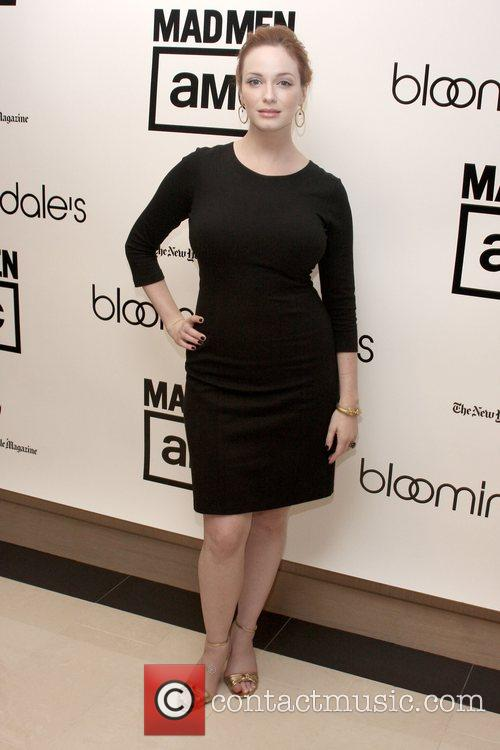 Christina Hendricks Bloomingdale's celebrates the re-opening of the...