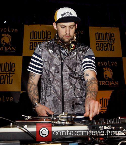 Joel Madden DJ'ed during Trojan Evolve Party held...