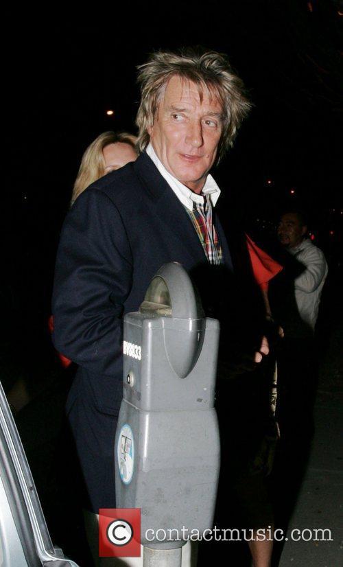 Rod Stewart leaving Madeo restaurant after having dinner...