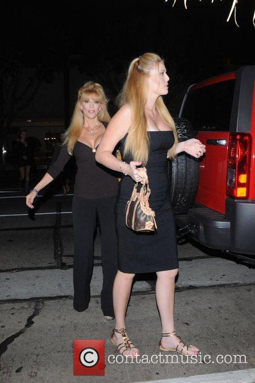 Judy Landers with her daughter Kristy Landers outside...