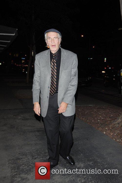 Martin Landau outside Madeo restaurant in Beverly Hills...