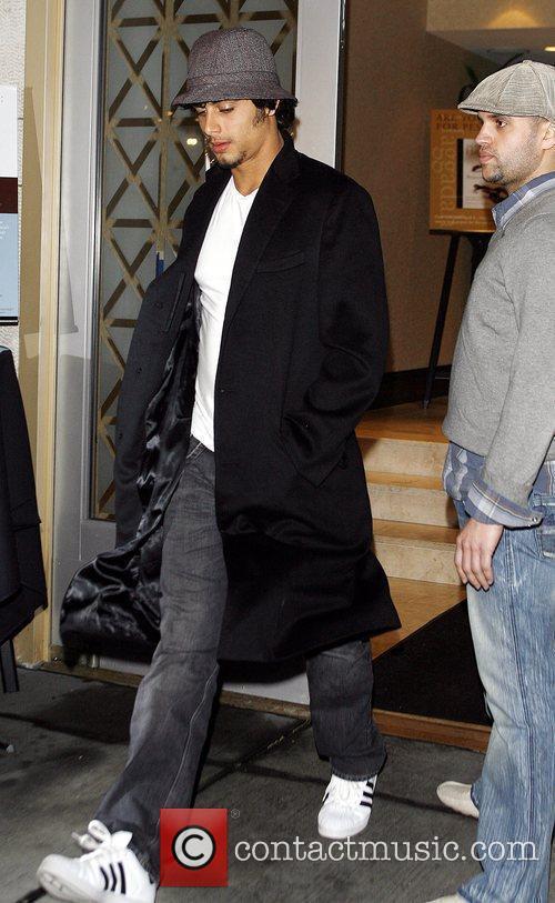 Jesus Luz leaving the Kabbalah Centre New York...