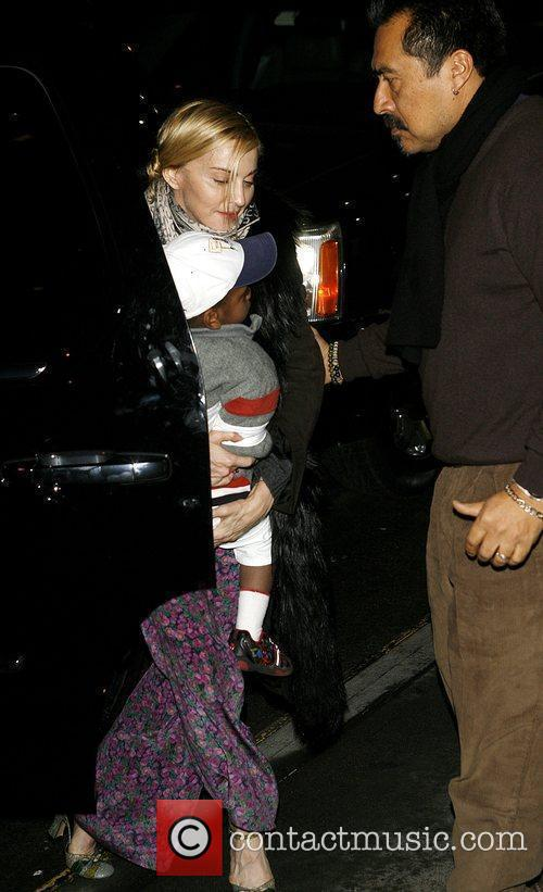 Madonna at the Kabbalah Centre with her adopted...