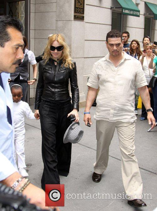 Madonna and her children leave the Kabbalah Center...
