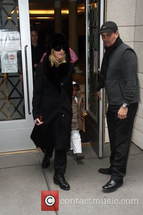 Madonna seen leaving the Kabbalah Centre where she...