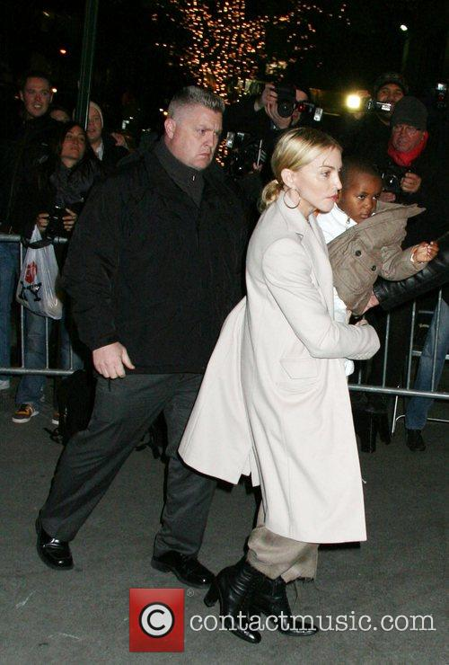 Madonna arriving at the Kabbalah Center on the...