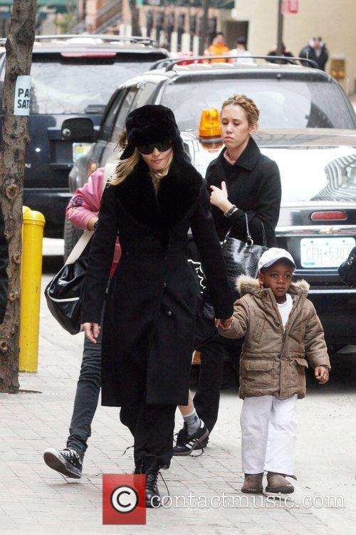 Lourdes Leon, Madonna and baby David seen leaving...
