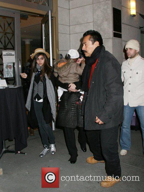 Lourdes Leon, David Banda and Madonna leaving the...