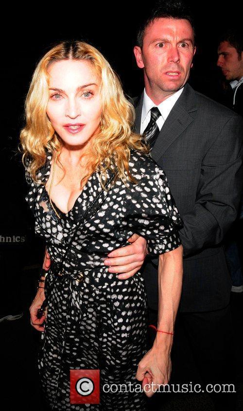 Madonna seen arriving at Cicconi Restaurant.