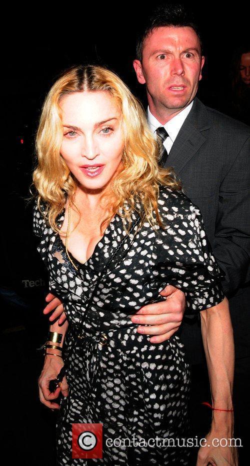 Madonna seen arriving at Cicconi Restaurant. London, England