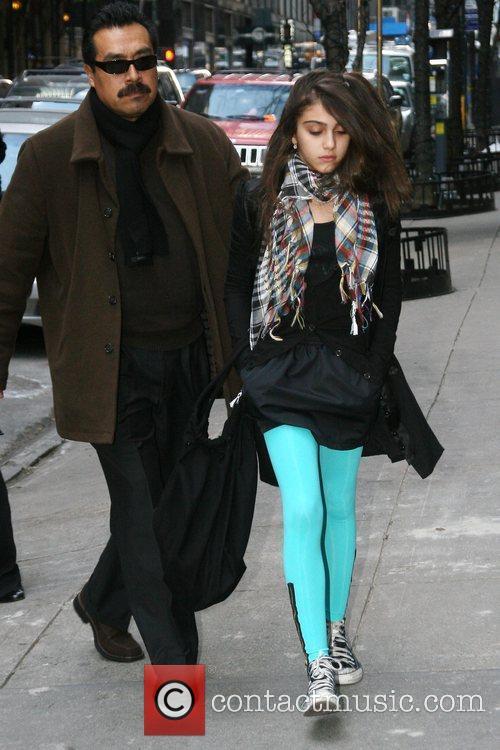 Lourdes Maria Ciccone Leon outside the Manhattan Kabbalah...