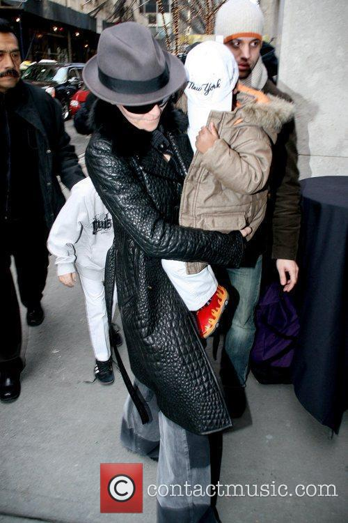 Madonna and David Banda arrive at the Manhattan...