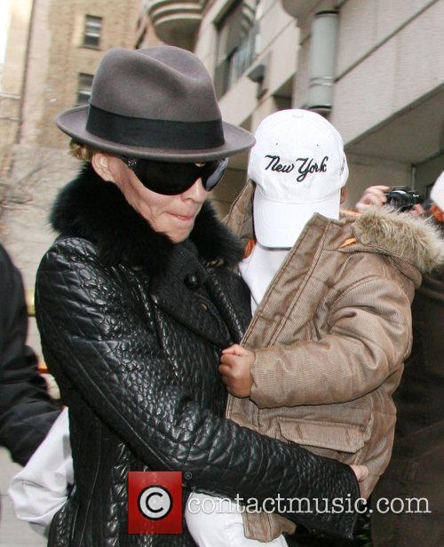 Madonna, David Banda  arrive at the Manhattan...