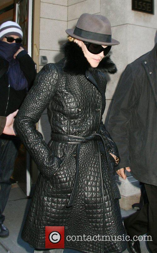 Madonna leaving the Manhattan Kabbalah Centre. New York...
