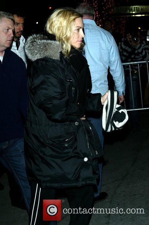 Madonna arriving at the New York Kabbalah centre...