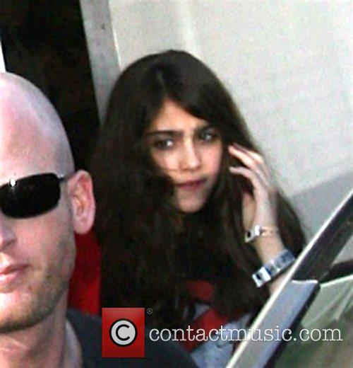 Lourdes Leon leaving a Kabbalah centre with her...