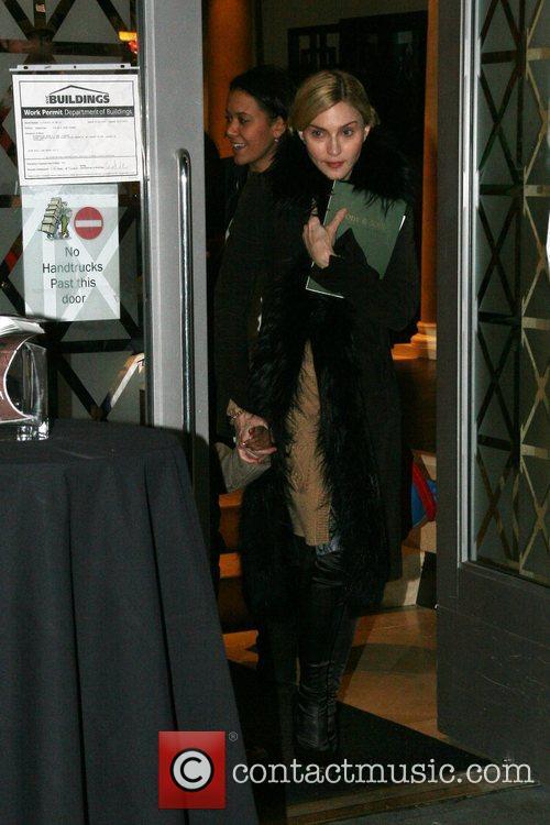Madonna  departs the Kabbalah Center with her...