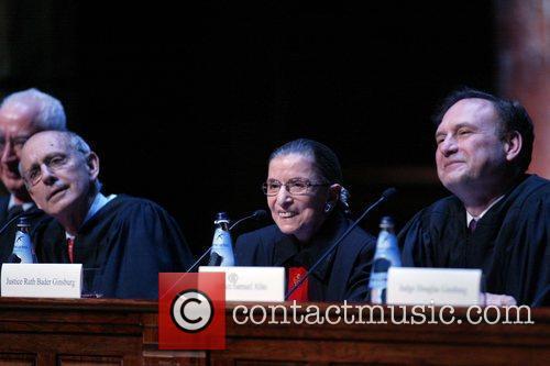 Justice Stephen Breyer, Justice Ruth Bader Ginsburg and...