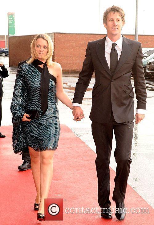 Edwin Van de Sar and wife Manchester United...