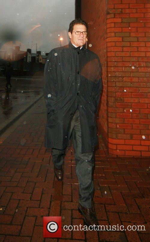England team manager, Fabio Capello arrives at Ewood...