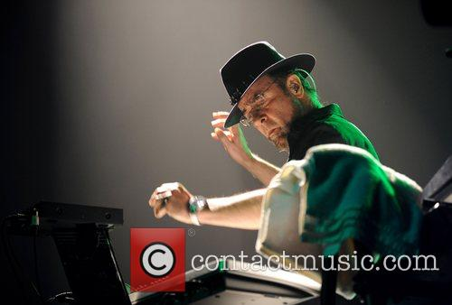 Manfred Mann of Manfred Mann's Earth Band performing...