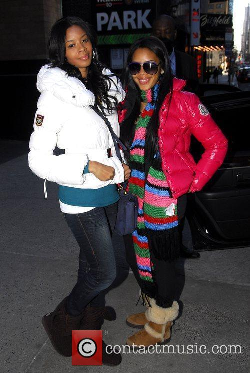 Vanessa Simmons and Angela Simmons out and about...