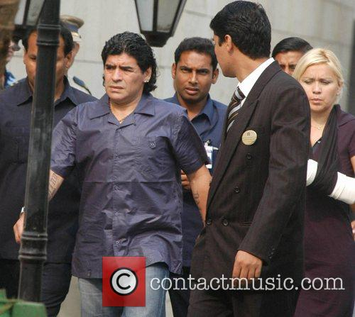 Diego Maradona and His Girlfriend 2
