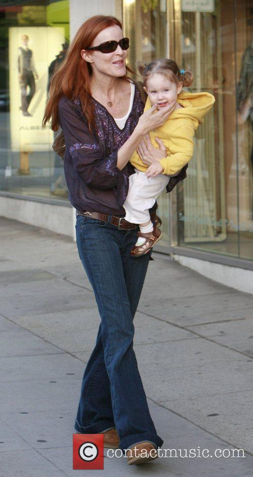 Marcia Cross out and about shopping with her...