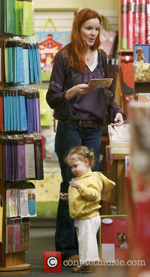 Out and about shopping with her daughter in...