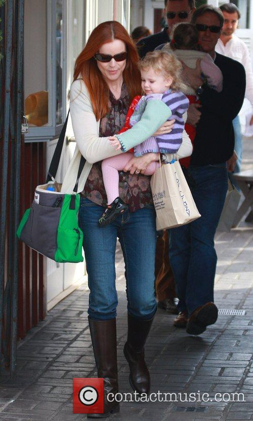 Marcia Cross shopping with her husband Tom Mahoney...