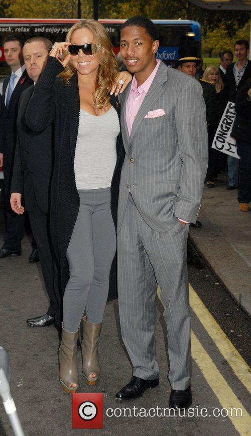 Mariah Carey, husband Nick Cannon, Dorchester Hotel